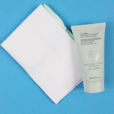 LIZ EARLE Cleanse & Polish Hot Cloth Cleanser 30ml And Muslin Christmas Gift NEW