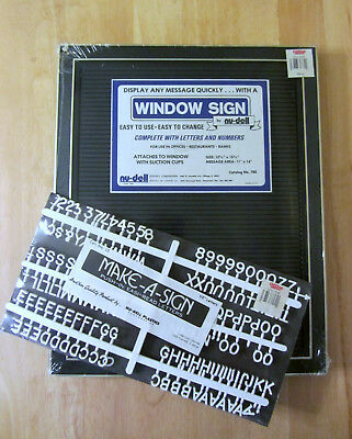 NU-DELL Changeable Letters Window Message Menu Board + Extra Letters/Numbers