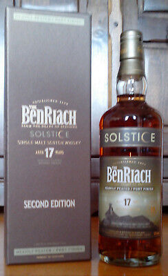BENRIACH Solstice 17 Jahre, 2nd Edit., Single Malt Whisky, 0,7 L, 50,0%, Peated