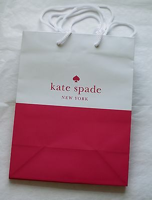 """Set of 1 Kate Spade Paper Shopping Gift Bags 7.75"""" x 9.75"""" x 4.5"""" NEW"""