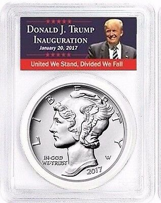 2017 1 oz Palladium American Eagle $25 PCGS MS70 FIRST DAY OF ISSUE TRUMP LABEL