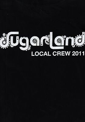 Sugarland 2011 The Incredible Machine Tour Local Crew Tee T Shirt / X Large