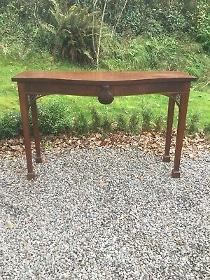 Antique Inlaid  Bow Fronted Console / Hall Table