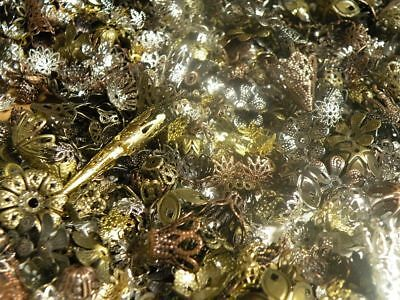 NEW! 2oz Filigree Bead Cap Mix Popular Vintage Styles 5mm - 42mm 4 Assortments