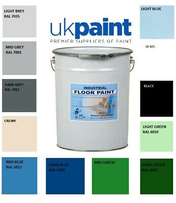 5 Litre's Heavy Duty Solvent Based Industrial Floor Paint - ALL COLOURS
