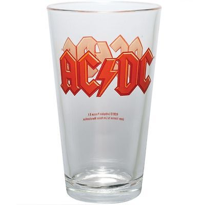 AC/DC Pint Glass Heavy Metal Brewiana Malcolm Angus Young Bon Scott Evans Rudd