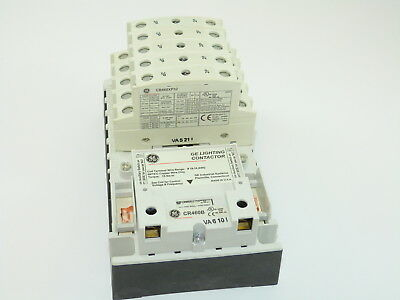 GE CR463LB0AJA Electricity Held Lighting Contactor 120v Coil 10 N.O. Poles NEW