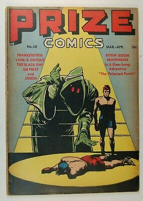 Prize Comics #58 (Mar-April 1946, Feature Pub.) Frankenstein - Yankee Doodle