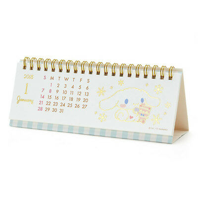Cinnamoroll Horizontal Ring Calendar 2018 Sanrio Kawaii Cute F/S NEW