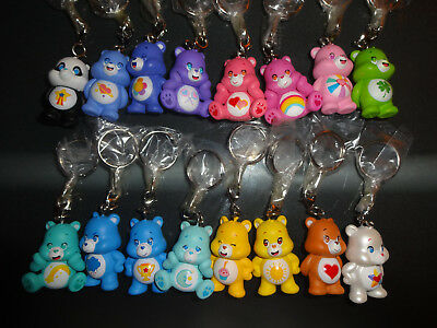 Kidrobot Care Bears Keychains COMPLETE SET (16pc) *includes RARE BIRTHDAY BEAR