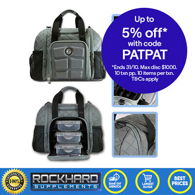 Six Pack Fitness Bag Innovator Mini Quilted Grey Meal Management 6 Pack