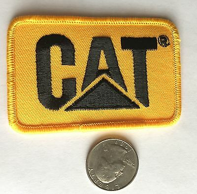 """Caterpillar*cat*embroidered Iron On Patch*3"""" X 2 1/4""""*"""