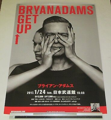 BRYAN ADAMS Japan PROMO ONLY official TOUR POSTER 2017 more B.Adams in stock