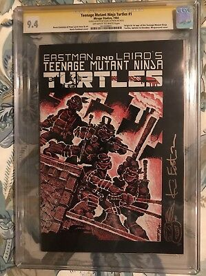 TMNT Teenage Mutant Ninja Turtles comic #1 first print CGC SS 9.4 Auto Eastman