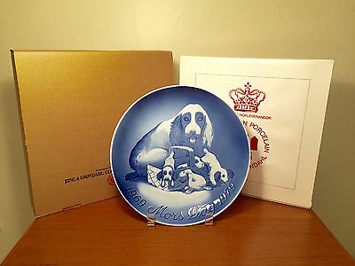 NEW B&G 1979 Mothers Day Danish Jubilee Anniversary Plate LARGE 9 Inch DOGS PUPS
