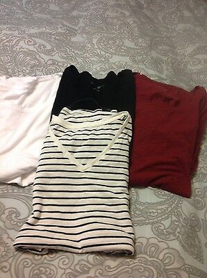 Maternity Lot of Four Tops liz Lange SZ L
