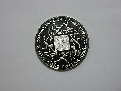 New Zealand 1974 $1 Commonwealth Games Proof Silver World Coin Collection Lot