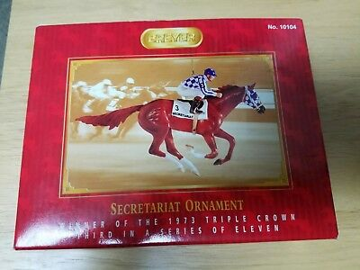 Breyer Race Horse Christmas Ornament - Secretariat - Kentucky Derby Triple Crown