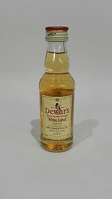Dewar's White Label Scotch Whisky! Rare 50 ml Glass Mini!