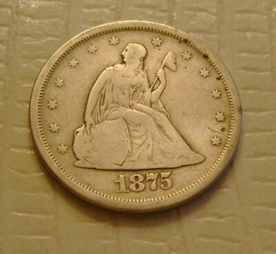 1875 S Twenty Cent old silver US coin No Reserve