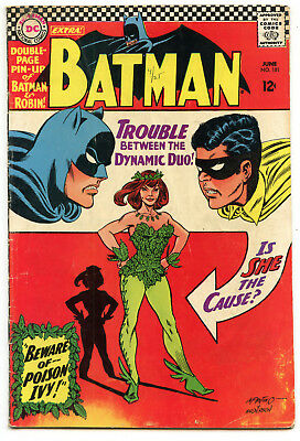 JERRY WEIST ESTATE: BATMAN #181 (DC 1966) VG Batman vs Poison Ivy 1st Appearance