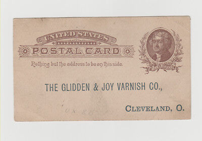 Glidden & Joy Varnish co. postcard, Cleveland, Ohio 1880`s. Nice!