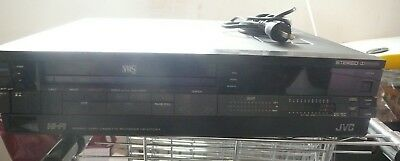 JVC VHS video cassette recorder hr-d725ea no remote; sell for charity
