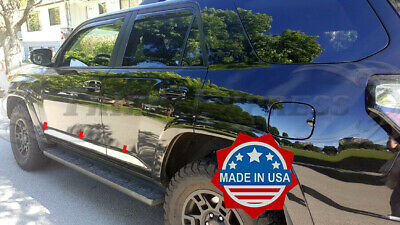 2010-2018 Toyota 4Runner 6Pc Stainless Steel Body Side Molding Trim-Lower 2 1/2""