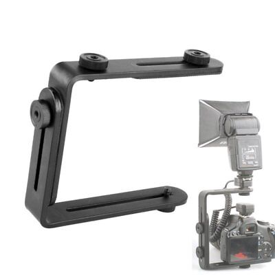 L-Shaped Double Metal Bracket/Holder Mount F Canon Nikon Camera Speedlite Flash