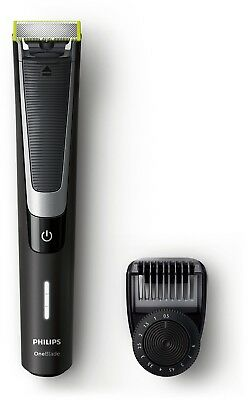 Philips OneBlade Pro Hybrid Trimmer Shaver With 12 Length Comb UK 2 Pin Plug New