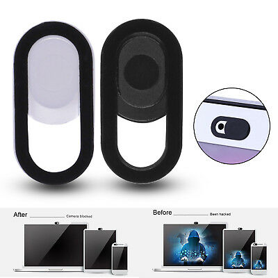 Webcam Camera Cover Privacy Protection Shutter For Phone Laptop Desktop (Black)