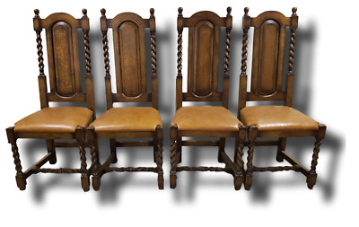 Dining Furniture High Carved Oak Sidechair