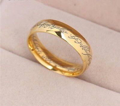 Power Gold Plated the Lord of The One Rings Hobbit Stainless Steel