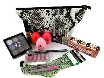 Barry M & W7 mixed 26pc nail / eye /lip in gift bag Teen Ladies Gift Set