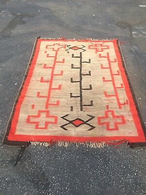 Authentic Antique Navajo Rug Late 1800s-Early 1900s Native American