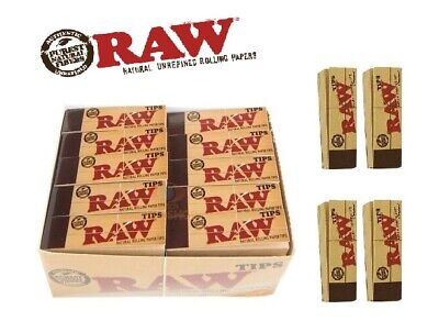 RAW rolling paper roach filter TIPS chlorine free filter / roach book RawTips