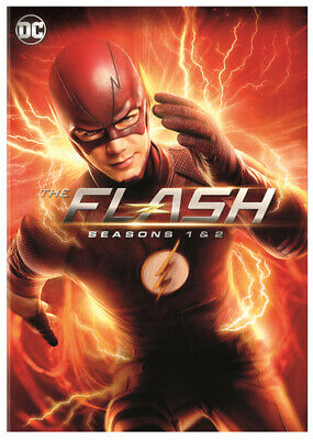 The Flash: Seasons 1-2 DVD (2016) Grant Gustin cert 12 11 discs Amazing Value