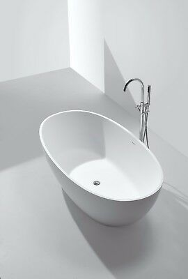 Stone Bathtub Modern New Freestanding Solid Surface White Bath Tub