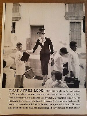 1957 LS Ayres and Co that look women's suit by Irene hat John Frederics ad
