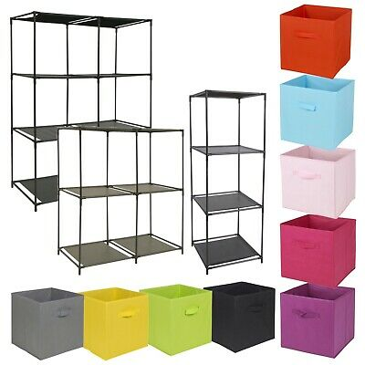 4 or 6 Cubed Storage Cupboard With Baskets Home Furniture Shelf Rack Unit Closet