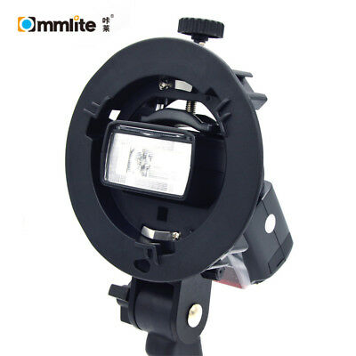 Commlite S Shaped Bracket Mount Holder for Canon, Nikon and YONGNU flashes