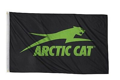 Arctic Cat Black & Green Nylon 3' x 5' Aircat Flag w/ Metal Grommets 5283-082