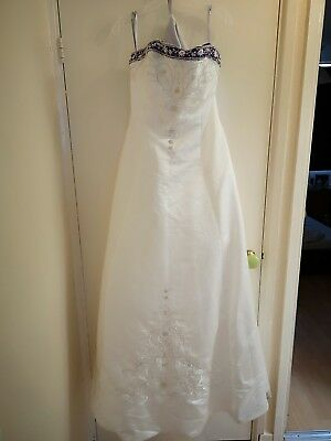 ALFRED ANGELO VINTAGE Wedding Dress Small - £70.00 | PicClick UK