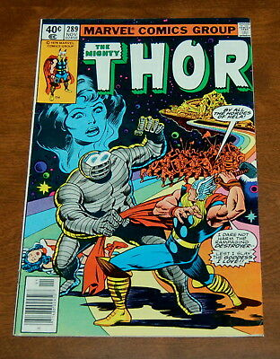 The Mighty Thor #289 (7.5) VF- Eternals Destroyer App 1979 Bronze Age Key Issue