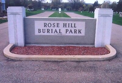 2 Cemetery Plots - Rose Hill Burial Park - Akron, Ohio - Masonic Section
