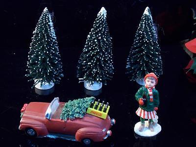 Coca Cola Collectibles 1996 Car With Christmas Tree And Case Of Coke lot 5Pc