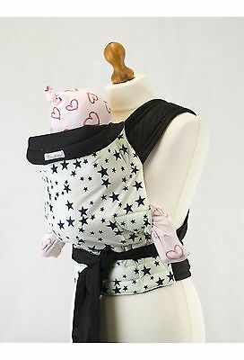 Palm and Pond Mei Tai Blue Star Baby Sling Hip/Front/Back Reversible Baby Carry