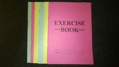 A5  Just Stationery - Exercise Books - 48 Pages - lined ruled ECONOMY VALUE