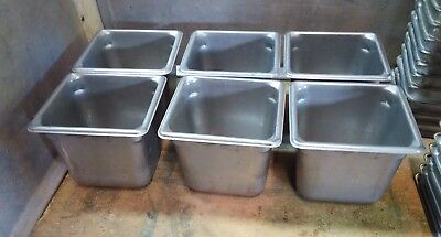 """6 Vollrath -  Super Pan II Sixth Size, 1/6 size, 6"""" Deep Steam Table Pan"""