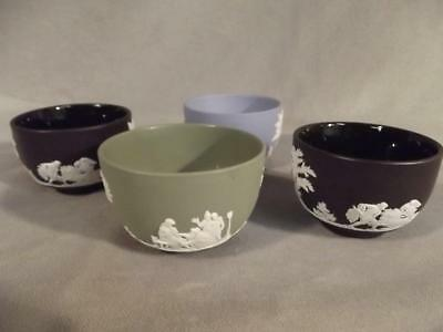 Lot 4 Small Wedgwood Jasperware Finger Bowls - 3 Inches
